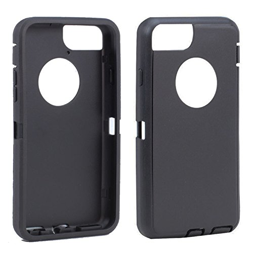 for iPhone 7/iPhone 8/4.7 Inch - Replacement Generic Aftermarket TPE Silicone Outer Skin for Otterbox Defender Series Case - 4.7' Black