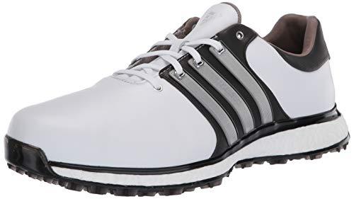 adidas Men's TOUR360 XT Spikeless Golf Shoe, FTWR White/Matte Silver/core Black, 9.5 Medium US