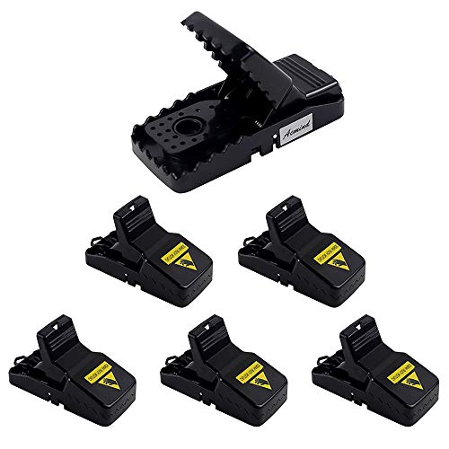 Acmind Mouse Trap, Small Mice Traps That Work, Mice Snap Trap with Detachable Bait Cup, Sanitary Safe and Effective Indoor Mouse Catcher - 6 Pack