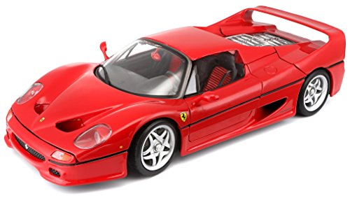 Bburago 1:18 Scale Ferrari Race and Play F50 Diecast Vehicle (Colors May Vary)