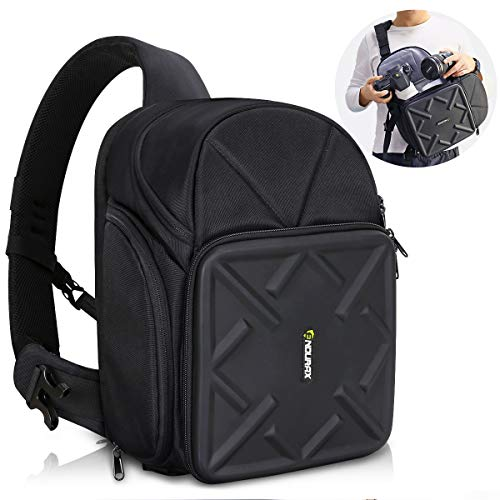 Endurax Sling Camera Bag Backpack for DSLR Camera with Customizable Dividers for Long Lens and Waterproof for Canon Nikon Sony Pentax