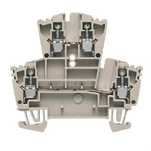 WEIDMULLER WDK-2.5 Screw Connection, 24 A, Feed-Through Terminal, Dark Beige, 400 V, 2.5 MM, Double-Tier Terminal