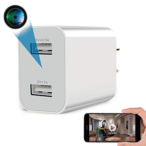 Spy Camera Wireless Hidden WiFi Camera with Remote Viewing, 2020 Newest Version 1080P HD Nanny Cam/Security Camera Indoor Video Recorder Motion Activated, Support iOS/Android, White, No Audio