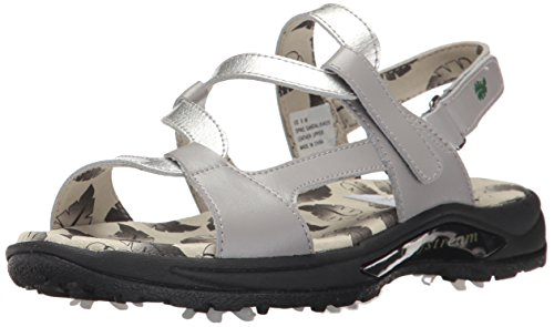 Golfstream Shoes Womens Spike Sandal, Gray/Crystal Silver, 7 M US