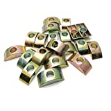 Mimhooy 20PCS 8mm/0.31' Hole Dia Alloy Half Moon Nut Furniture Connector Nuts Spacer Washer Bronze Tone