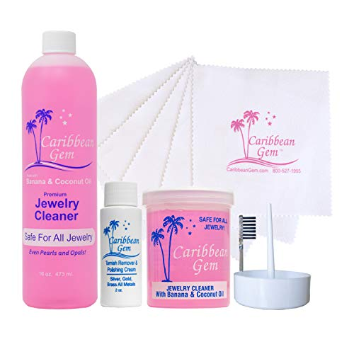 Caribbean Gem Banana & Coconut Oil Jewelry Cleaner (Ultra Cleaning Kit)