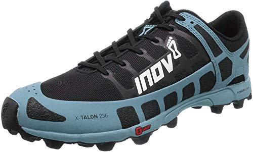 Inov-8 Womens X-Talon 230 - Lightweight OCR Trail Running Shoes - for Spartan, Obstacle Races and Mud Run - Black/Blue Grey 10.5 W US