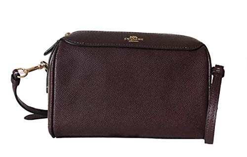 Coach Womens Crossgrain Leather/Signature Mini Bennett Crossbody Bag (Raspberry)
