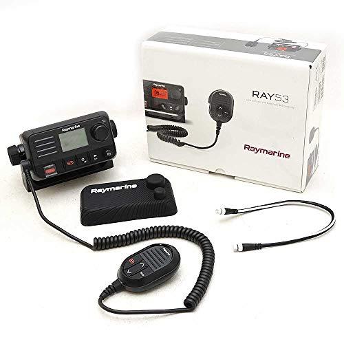 Raymarine E70524 Ray53 Marine VHF Radio, Black, Medium