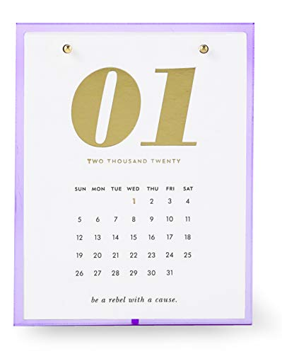 Kate Spade New York Small 12 Month Desktop Calendar, Dated January 2020 - December 2020, Lilac