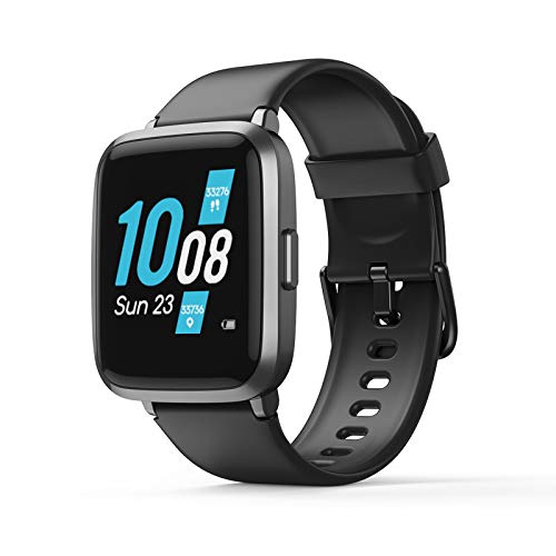 Smart Watch for Android Phone Compatible Koogeek Smart Watch for Men Women with Blood Pressure Monitor Fitness Tracker Blood Oxygen Meter Heart Rate Waterproof Smartwatch for iPhone iOS 2021 Upgraded