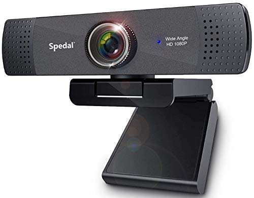 1080P FHD Streaming Webcam, Spedal Streamcam with Stereo Microphone, Xbox Twitch YouTube Skype OBS Compatible USB Desktop Laptop PC Camera for Widescreen Video Calling and Recording
