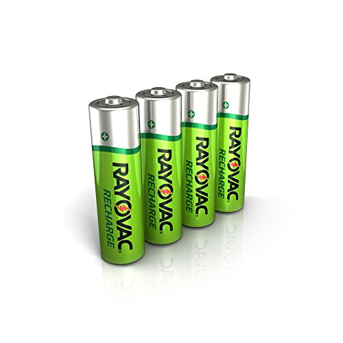Rayovac Rechargeable AA Batteries, Rechargeable Double A Batteries (4 Count)