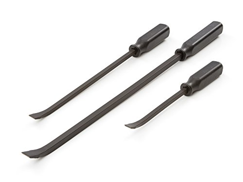 TEKTON Angled Tip Handled Pry Bar Set with Striking Caps, 3-Piece (12, 17, 25-Inch) | LSQ42103