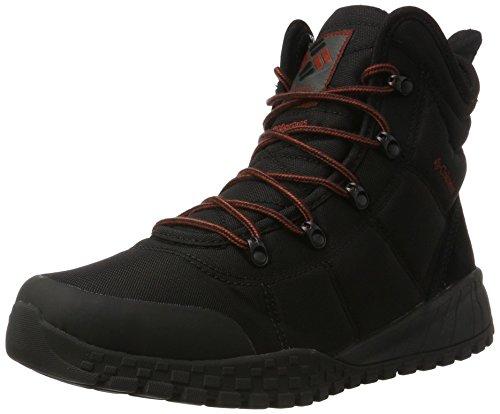 Columbia Men's Fairbanks Omni-Heat Snow Boot, Black, Rusty, 9.5