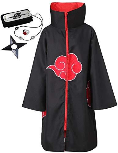 Angelaicos Unisex Long Robe Halloween Costume Uniform Cloak Headband Plastic Toy (S)