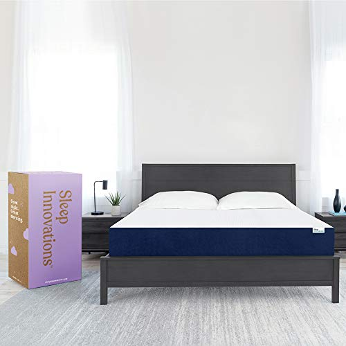 Sleep Innovations Marley Queen 10 Inch Cooling GelMemory Foam Mattress ina Box - Made in USA - MediumFirm - Pressure Relieving