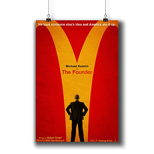 The Founder (2016) Movie Poster Small Prints 817-001,Wall Art Decor for Dorm Bedroom Living Room (A3 11x17inch 29x42cm)