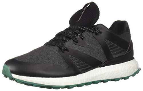 adidas Men's Crossknit 3.0 Golf Shoe, core Black/Grey six/Active Green, 13 M US