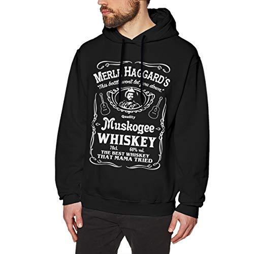 Merle Haggard Shirt Men's Hoodie Lon Sleeve Pullover Hoodies Sweatshirt XL Black