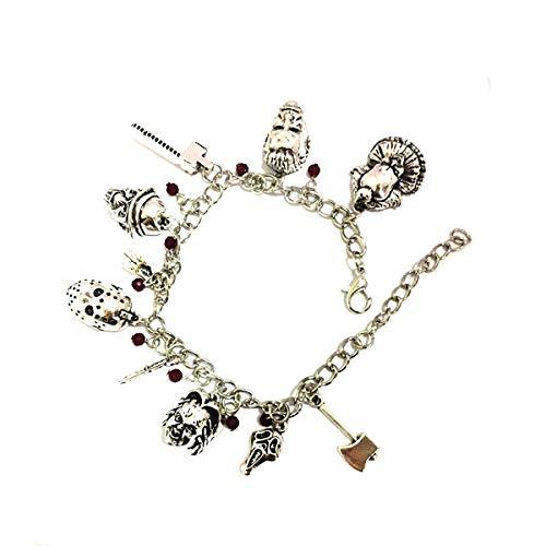 Blingsoul Cheeky Horror Charm Bracelet - Child Movie Costume Halloween Jewelry Merchandise Gifts for Women