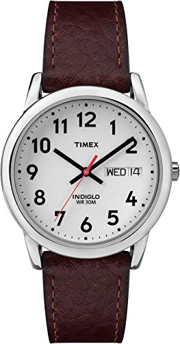 Timex Men's T20041 Easy Reader 35mm Brown Leather Strap Watch
