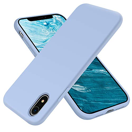 OTOFLY Compatible with iPhone XR Case 6.1 inch,[Silky and Soft Touch Series] Premium Soft Liquid Silicone Rubber Full-Body Protective Bumper Case for iPhone XR (Light Blue)