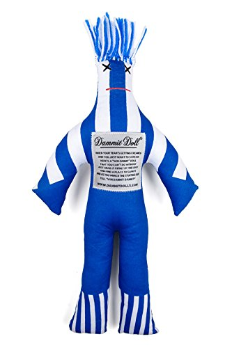 Dammit Doll - Win The Legend - Blue & White - Stress Relief - Gag Gift - Sports Teams