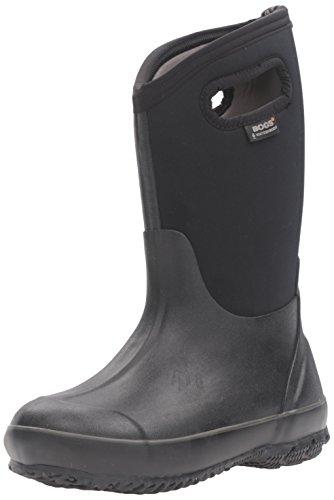 BOGS Kids' Classic High Waterproof Insulated Rubber Neoprene Rain Boot Snow, Black, 6 M US Big Kid