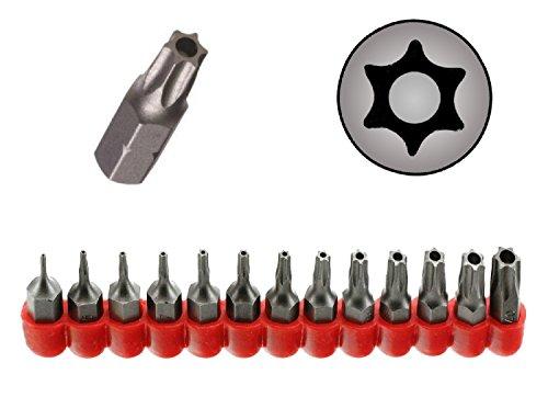 Ram-Pro 13Pc Torx Star 6 Point, Security Tamper Proof, Driver Bit Set - T4, 5,6,7,8,9,10,15,20,25,27,30,40 – Multifunction Damage/Shear Resistant Hollow Torque Kit