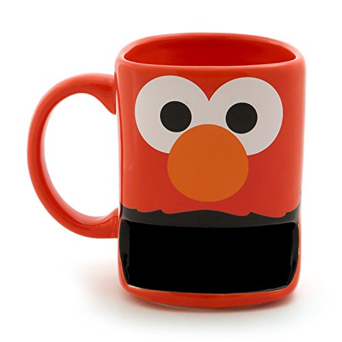 "Enesco Our Name is Mud ""Elmo"" Sesame Street Mug with Cookie Slot, 10 oz, Red"