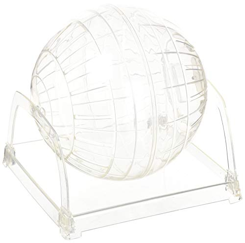 Living World Plastic Hamster Exercise Ball with Stand, 6-3/5-Inch