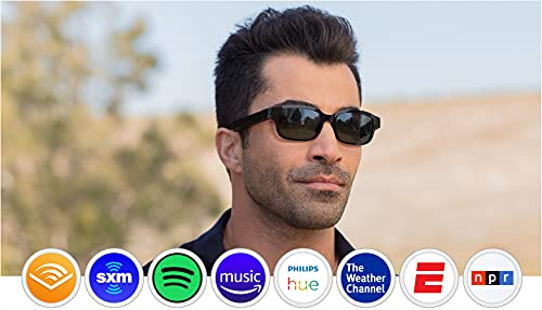 Echo Frames (2nd Gen) | Smart audio sunglasses with Alexa | Classic Black with new polarized sunglass lenses