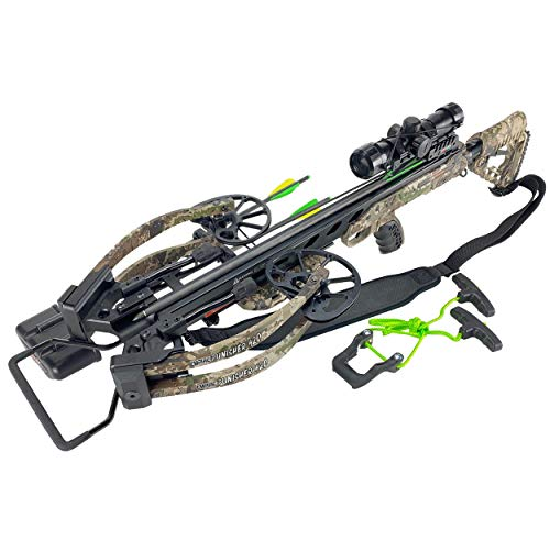 SA Sports Empire Punisher 420 Reverse Cam Crossbow, 175lb Draw Weight, 420 FPS, 4x32 Illuminated Multi-Reticle Scope