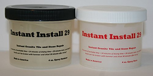 Epox-Sci's Instant Install 29~8 oz. epoxy kit. Knife Grade. Granite, Marble, Stone, Tile, Crack/Chip Repair/Joint. Tintable with EZ-Tint 4 Tint Pack.(Sold Separately)