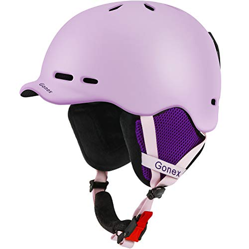 Gonex Ski Helmet, Snow Snowboard Helmet with Detachable Inner Padding, Lightweight Helmet for Women & Young Size L Pink