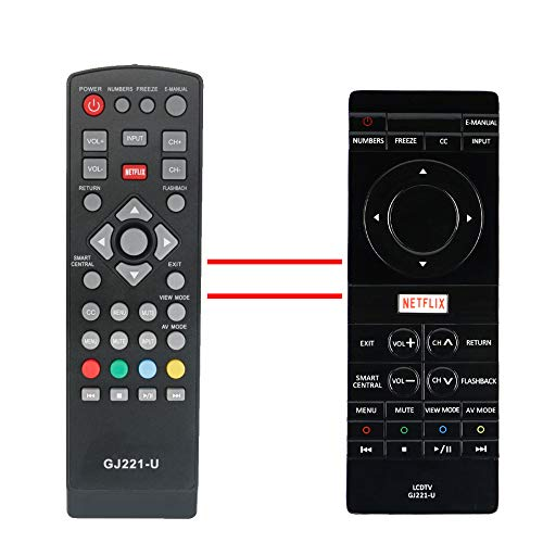 ECONTROLLY GJ221-U Replaced Remote Control fits for Sharp 4K TV LC-43UB30U LC43UB30U LC-50UB30U LC50UB30U LC-55UB30U LC55UB30U LC-65UB30U LC65UB30U LCD TV