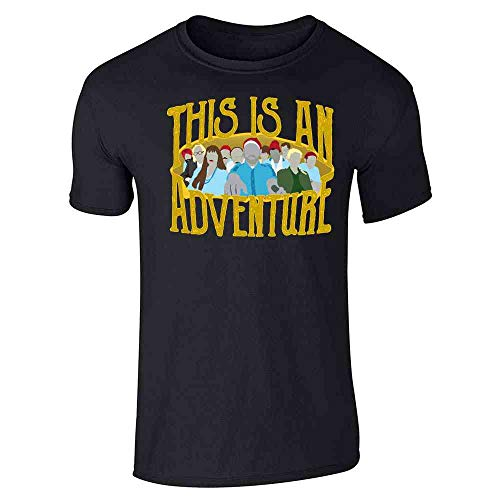 This is an Adventure Minimalist Black M Graphic Tee T-Shirt for Men