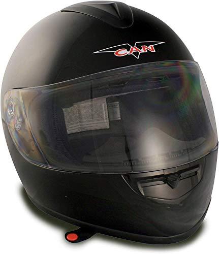 VCAN V136 Full-Face Helmet (Black, Small)