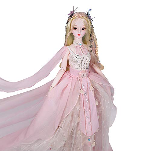 Dream Fairy Fortune Days Original Design 60 cm Dolls(with Gift Box), Series 26 Joints Doll, Best Gift for Girls (Krystal)