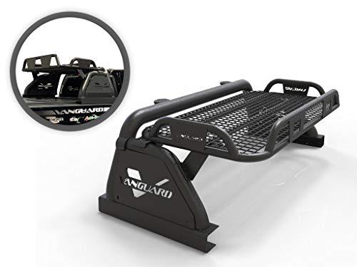 VANGUARD Black Powdercoat Raven Bed Bar 2.5in Cube LED Light Kit | Compatible with 07-22 Half-Ton Trucks