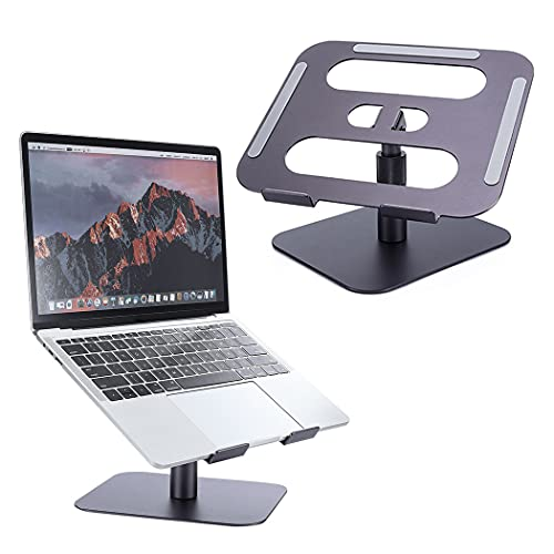 Tokanoso Laptop Stand for Desk Adjustable Laptop Riser Holder Aluminum Ergonomic Computer Notebook Stand Compatible with MacBook,iPad,HP,Dell and 11 to 17' Laptops
