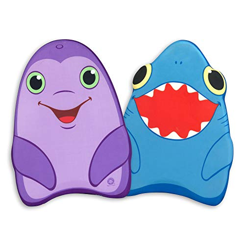 Melissa & Doug Sunny Patch Dolphin and Shark Kickboards - Learn-to-Swim Pool Toys (Set of 2)