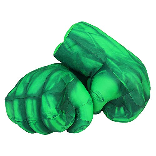 Superhero Gloves Boxing Gloves Smash Hands Big Soft Plush Hero Fists, Superhero Toys for Boys Girls, Role Play Costume Birthday Gift for Toddlers Kids Age 3+ ( 1 Pair Green)
