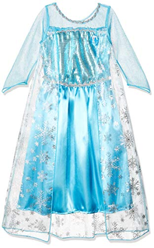 CXFashion Elsa Anna Baby Girls Queen Princess Lace Xmas Party Dress, Blue, (9 years)