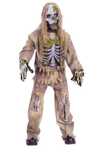 Fun World Skeleton Zombie Costume, Medium 8 - 10, Multicolor