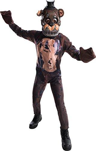 Rubie's 630618 Costume Boys Five Nights at Freddy's Nightmare Fazbear Costume, Medium, Multicolor