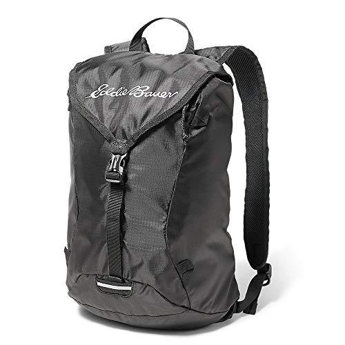 Eddie Bauer Unisex-Adult Stowaway Packable 20L Ruck Pack, Onyx Regular ONE Size