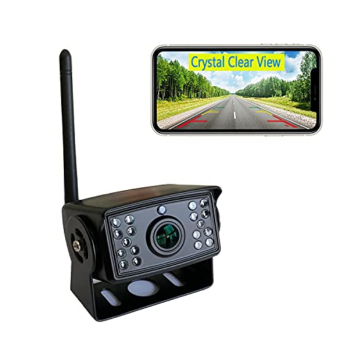Casoda HD1080p Wireless Backup Camera for iPhone and Android, Ultra Strong Signal Smooth Video Crystal Clear View Infrared Night Vision Suitable for Trucks Trailers Vans Rv Bus etc Easy To Install