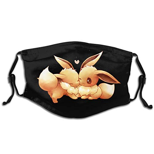Adjustable Child Cute_Eevee Mouth Masks Protection Reusable Face Masks for Teens Cover 1 Pcs